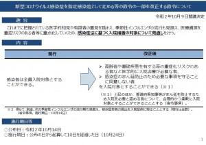 新型コロナウイルス感染症を指定感染症として定める等の政令の一部を改正する政令について